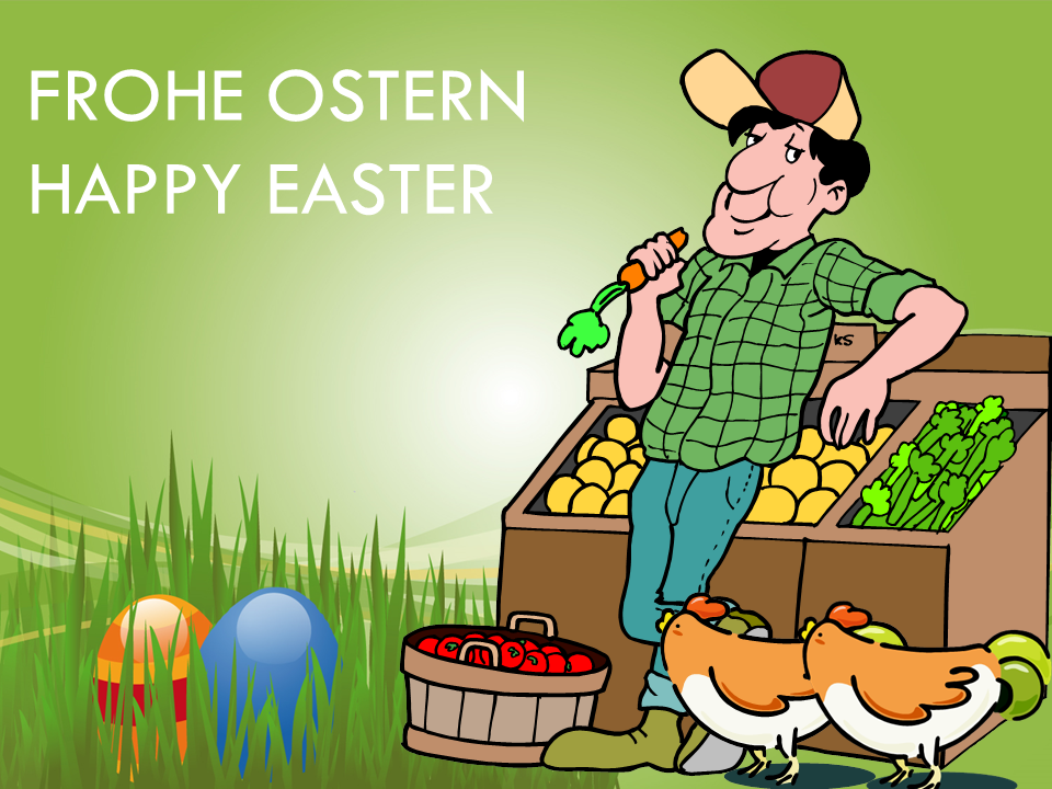 FROHE OSTERN -- HAPPY EASTER